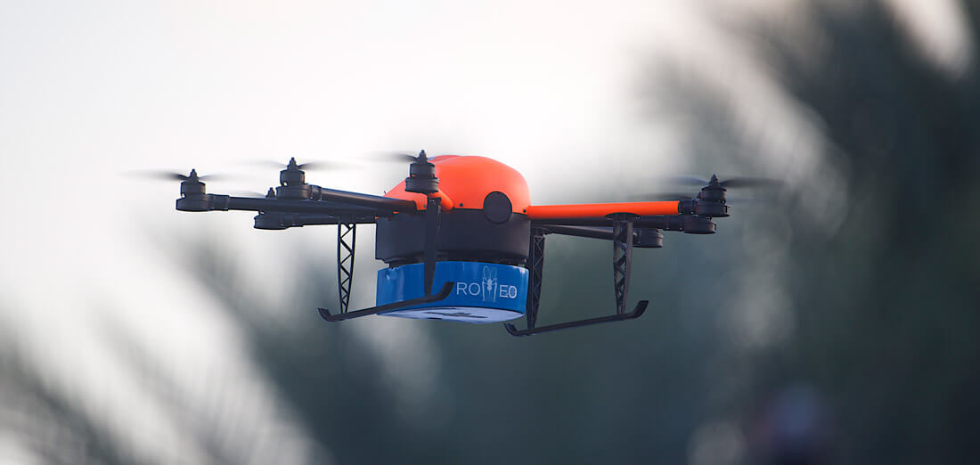 Moskitocopter ROMEO von HEIGHT TECH zur Bekämpfung von Krankheiten wie Zika, Malaria und Dengue