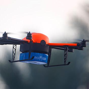 Der HEIGHT TECH Moskitocopter ROMEO im Einsatz in der Luft