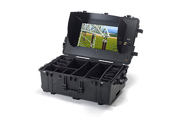 HEIGHT TECH Monitorkoffer mit Sicht-/Blendschutz