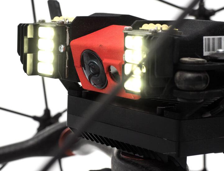 Kamera und LED-Beleuchtung der ELIOS Drohne